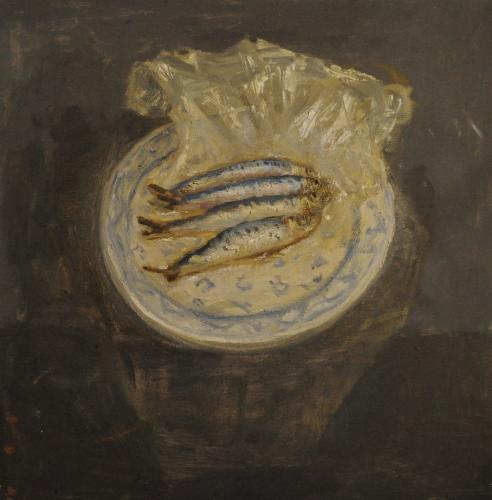 Still life with sardines