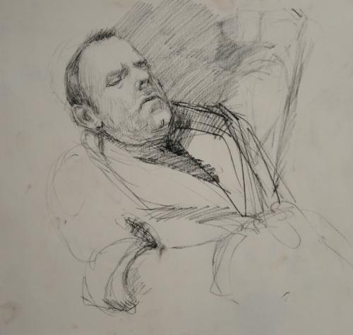 Steve sleeping