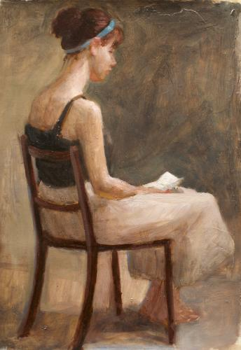 Woman reading a letter #1