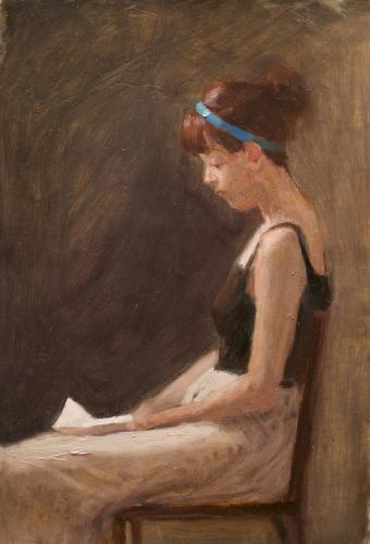 Woman reading a letter #2